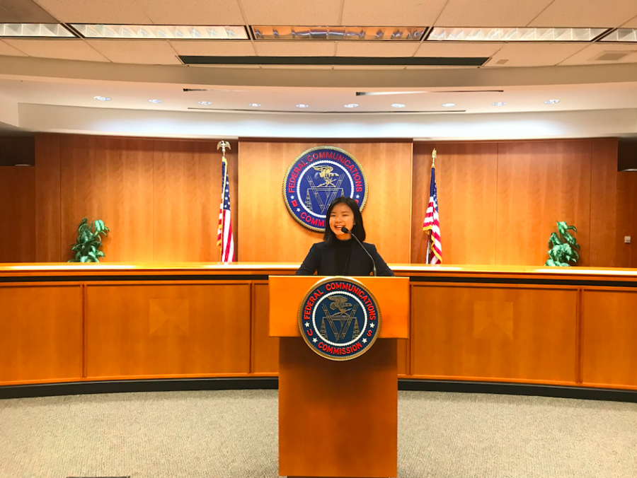 2019 Intern Grace Chuan at the FCC
