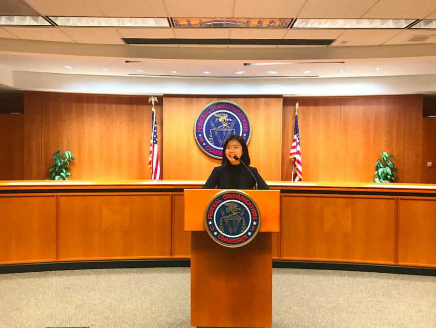 2019 Intern Grace Chuan at the FCC